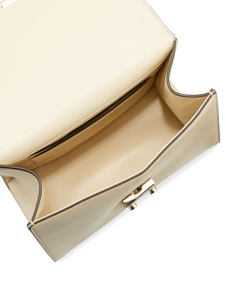 Funny Lock Leather Crossbody Bag