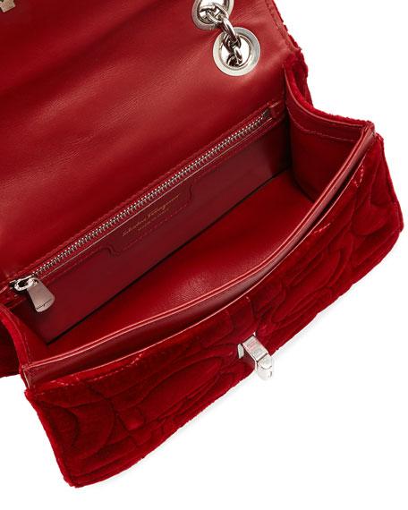 Gancio Quilting Velvet Shoulder Bag