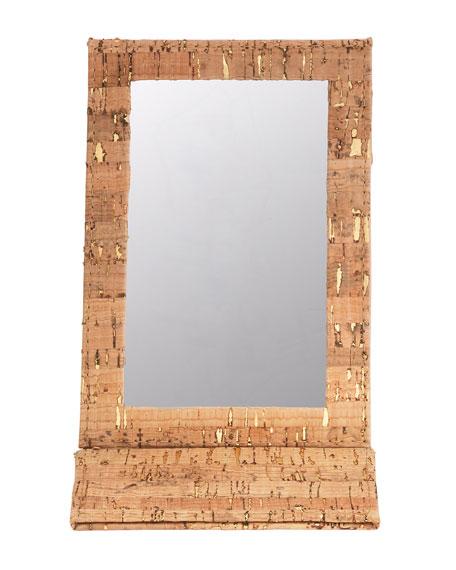 Madeira Cork Folding Mirror