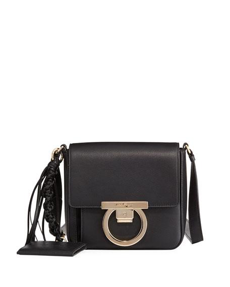 Small Leather Lock Crossbody Bag
