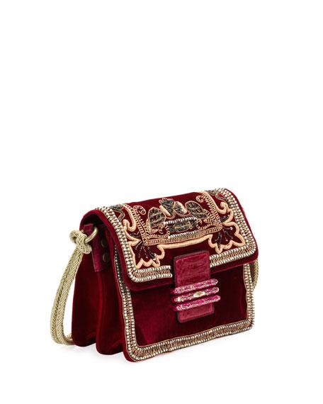 Rainbow Soft Small Velvet Crossbody Bag