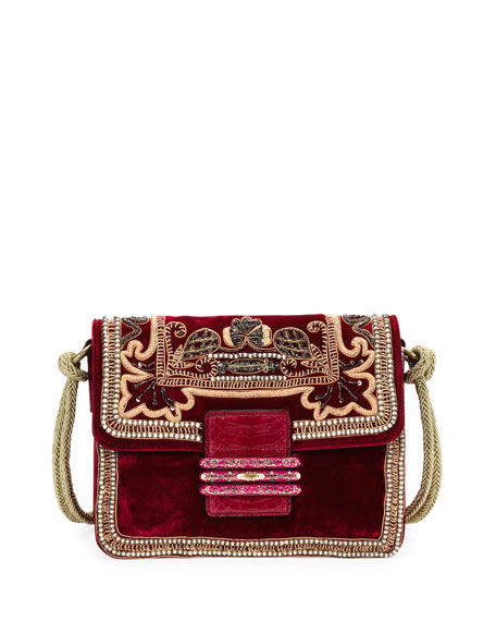 Rainbow Soft Small Velvet Crossbody Bag by Etro