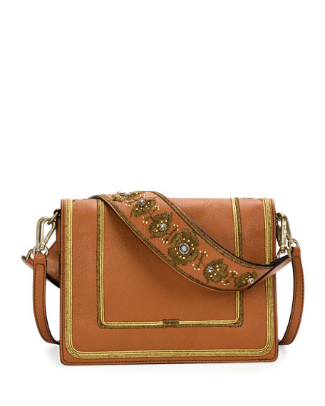 Rainbow Soft Leather Crossbody Bag