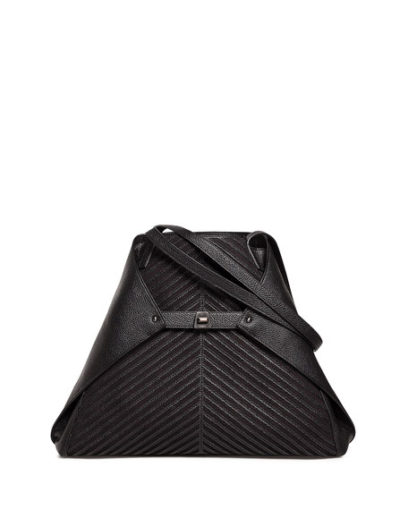 Akris Ai Medium Soft Leather Shoulder Bag