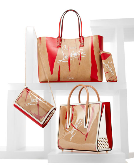 Cabata Kraft Loubicalf Paris Tote Bag