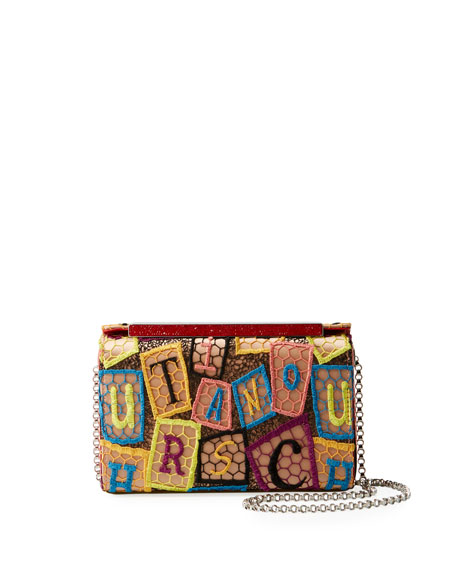 Christian Louboutin Vanite Small Dentelle AlphaLoubi Clutch Bag