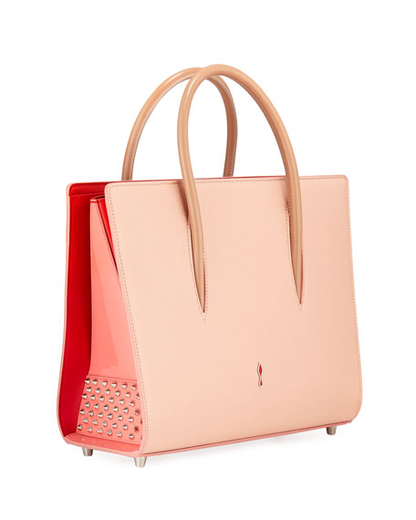 Paloma Medium Denim Loubi In The Sky Tote Bag