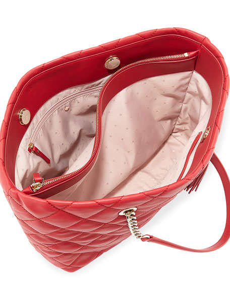 emerson place priya quilted tote bag