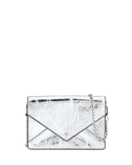 Metallic Envelope Mini Crossbody Bag