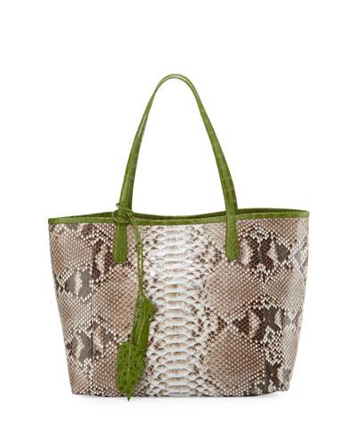 8c0986cca88a Nancy Gonzalez Erica Python Shopper Tote Bag from Neiman Marcus ...