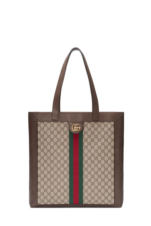 Gucci Ophidia GG Supreme Jacquard Striped Tote Bag