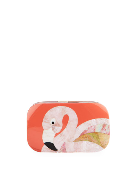 Kiki Flamingo Minaudiere, Pink