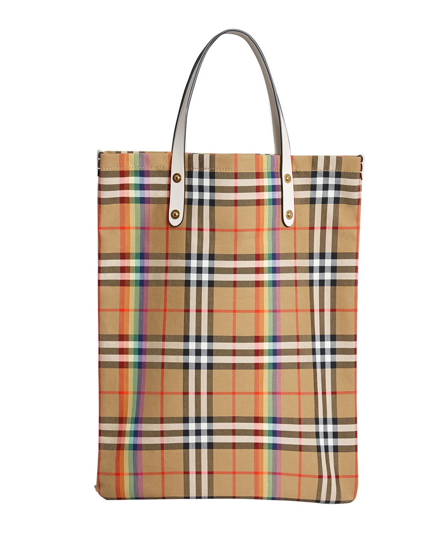 Burberry Vintage Check Rainbow Medium Shopper Tote Bag  feebcc57184f9