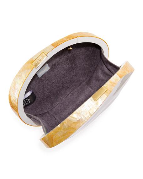 Sirene Shell Minaudiere Clutch Bag