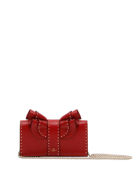 Very V. Rockstud Ruffled Shoulder Bag