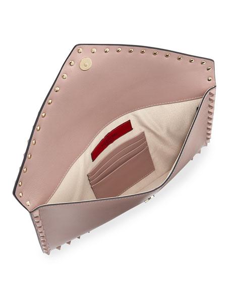 Rockstud Large Flat Pouch Bag