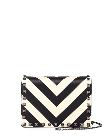 Rockstud V-Stripe Pouch Crossbody Bag