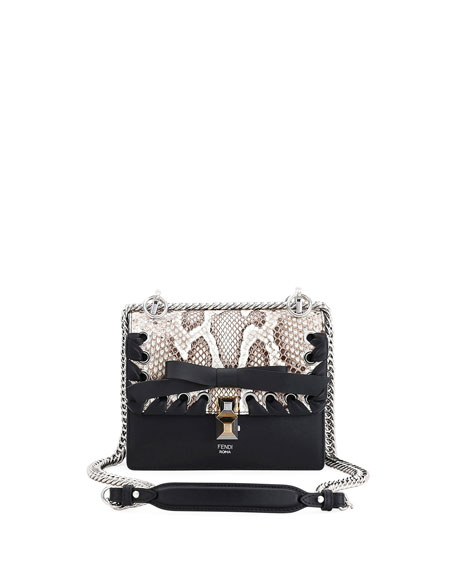 Fendi Kan I Small Calf Liberty and Python