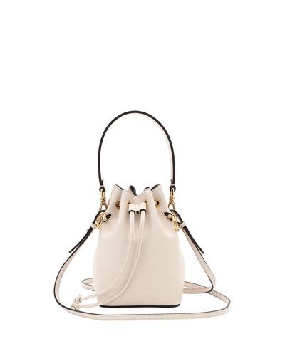 Mon Tresor Small Shiny Calf Bucket Bag