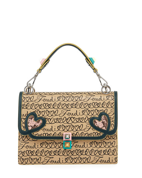 Fendi Kan I Fendi Love Regular Shoulder Bag