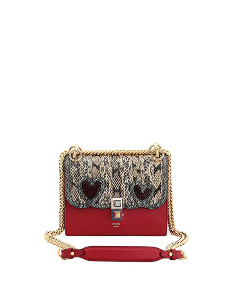 Fendi Kan I Small Calf and Snake Shoulder