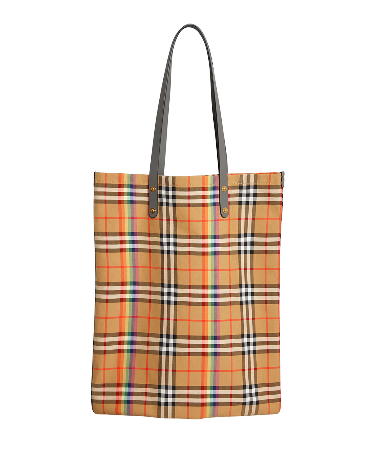 860591e73d56 BurberryVintage Check Rainbow Large Shopper Tote Bag