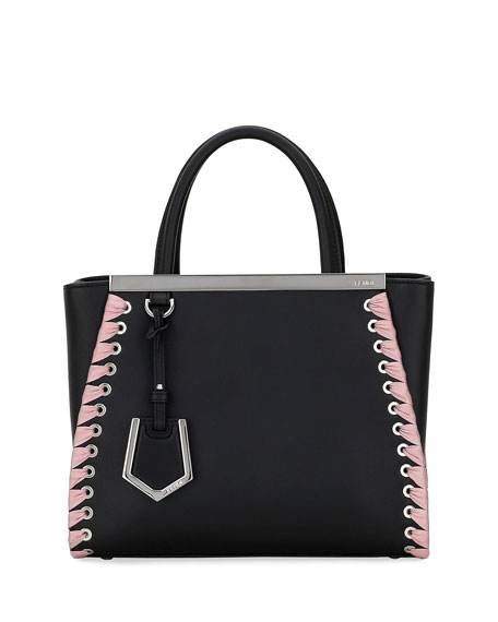 Fendi 2Jours Petite Calf Tote Bag with Ribbon