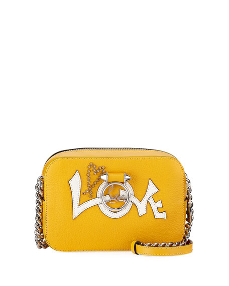 Christian Louboutin Ruby Lou Mini Love Calf Crossbody