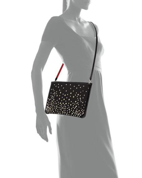 Loubi Glitter Diamanté Clutch Bag