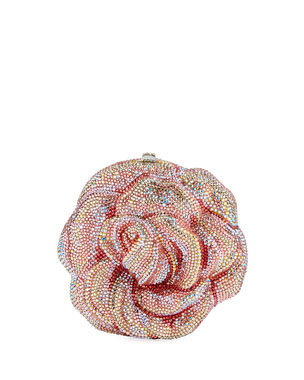1be698ef2aa Judith Leiber Couture Rose Apricot Crystal Clutch Bag