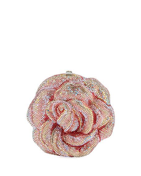 Rose Apricot Crystal Clutch Bag