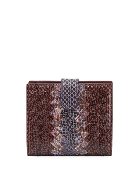 French Woven Leather Bi-Fold Wallet