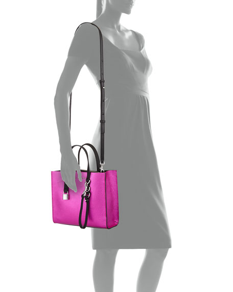 Grind Mini Metallic Leather Shopper Tote Bag