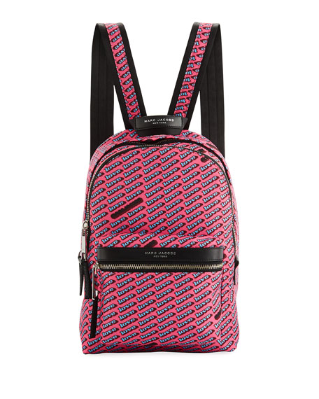 Medium Love-Print Canvas Backpack