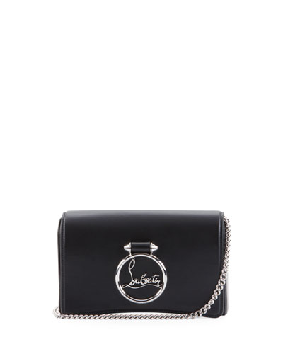 Ruby Lou Leather Logo-Ring Clutch Bag