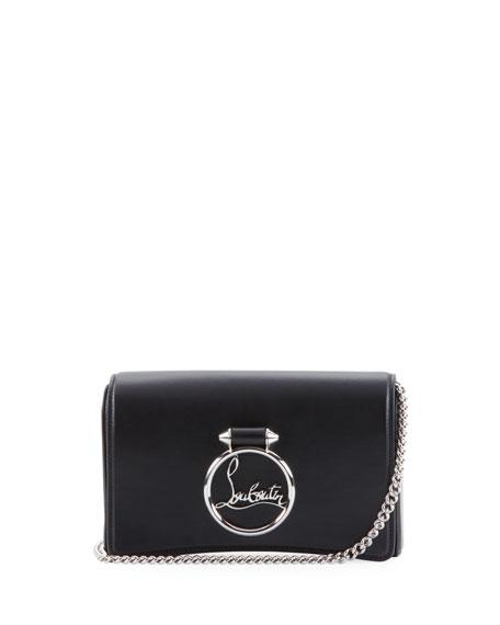Ruby Lou Leather Logo-Ring Clutch Bag