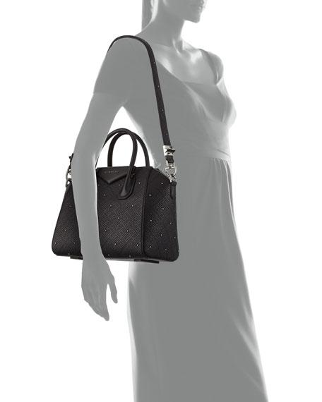 Antigona Small Studded Leather Satchel Bag