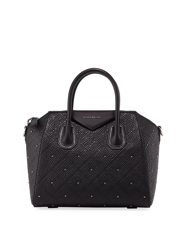 9790669ec116 Givenchy Antigona Small Studded Leather Satchel Bag
