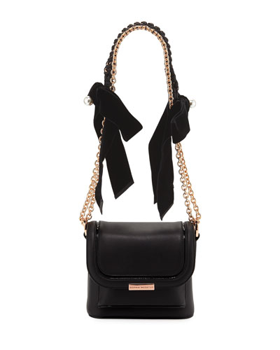 Claudie Crossbody Bag with Bows & Pearly Charm