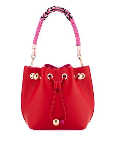 Romy Mini Bucket Bag with Woven Handle