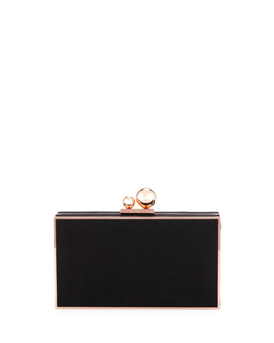 Clara Satin Box Clutch Bag