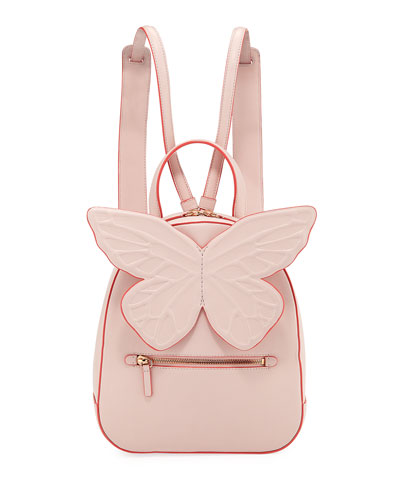 Kiko Leather Butterfly Backpack, Pink
