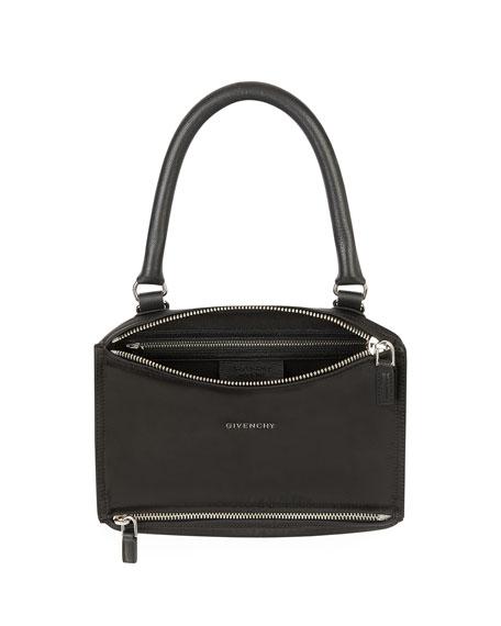 Pandora Small Fabric Satchel Bag with Logo Strap