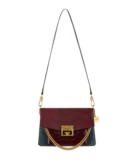 GV3 Small Colorblock Stag Leather Satchel Bag