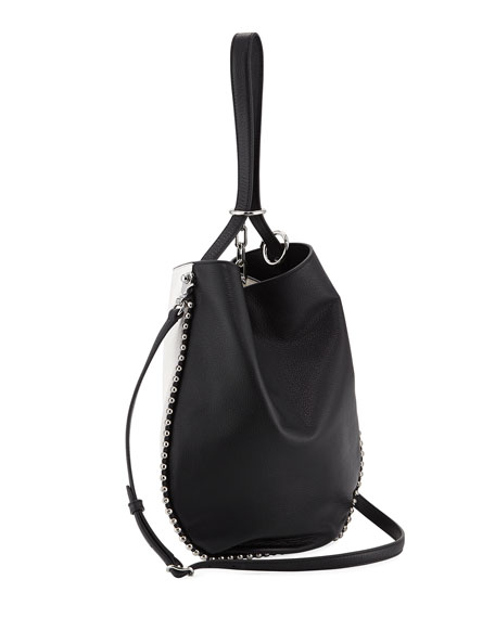 Roxy Refined Leather Hobo Bag