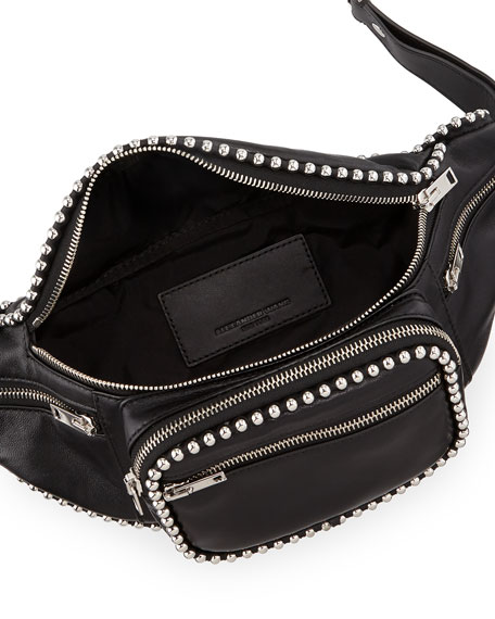 Attica Soft Leather Fanny Pack Bag with Stud Trim