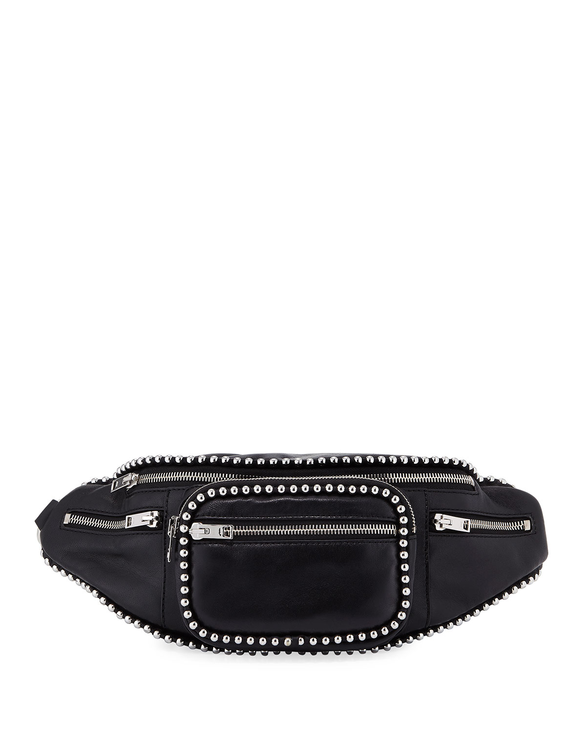 5262fcde089 Alexander Wang Attica Soft Leather Fanny Pack Bag with Stud Trim ...