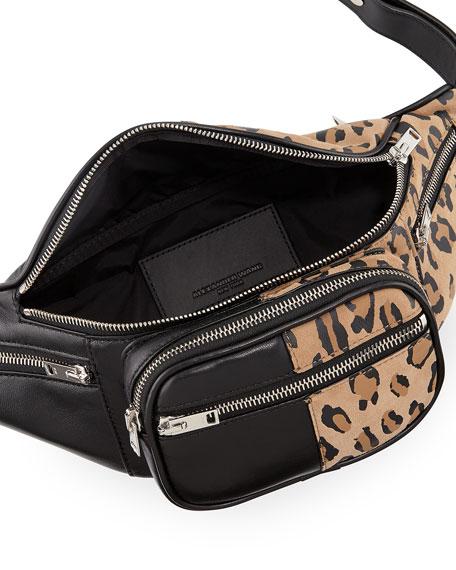 Attica Soft Leopard-Print Fanny Pack Bag