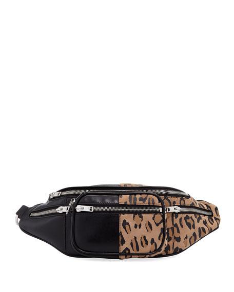 Alexander Wang Attica Soft Leopard-Print Fanny Pack Bag