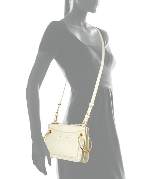 Roy Mini Leather/Suede Double-Zip Shoulder Bag